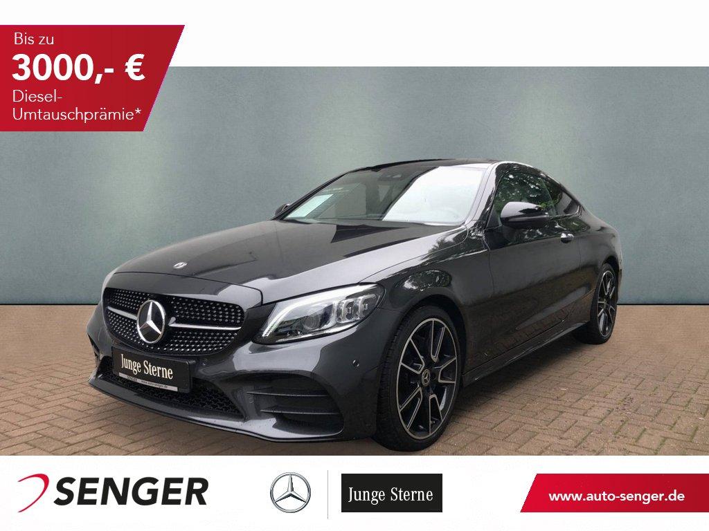 Mercedes-Benz C 180 Coupé AMG Night 360° Kamera Panoramdach 19, Jahr 2020, Benzin