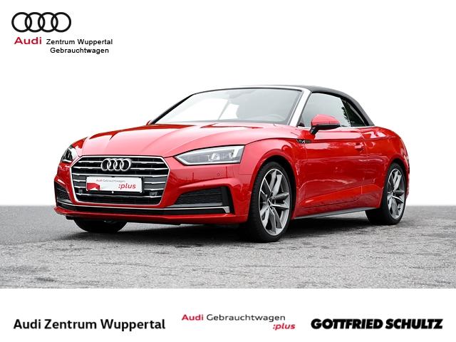 Audi A5 Cabrio 2.0TFSI 2X S-LINE LEDER LED CONNECT NAV GRA PDC VO HI 19ZOLL Sport, Jahr 2018, Benzin