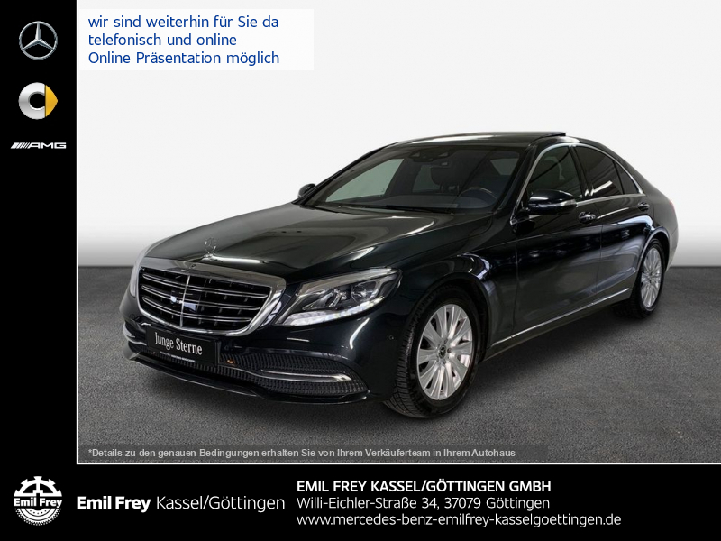 Mercedes-Benz S 450 4M+Distro+HiFi+PANO+HeadUp+360°Park, Jahr 2018, Benzin
