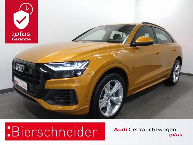 Audi Q8 50 TDI qu. tiptr. S line MATRIX B&O PANO HEAD-UP VIRTUAL LUFT TV KAMERA ACC NAVI LEDER 21 CONNECT DAB, Jahr 2019, Diesel