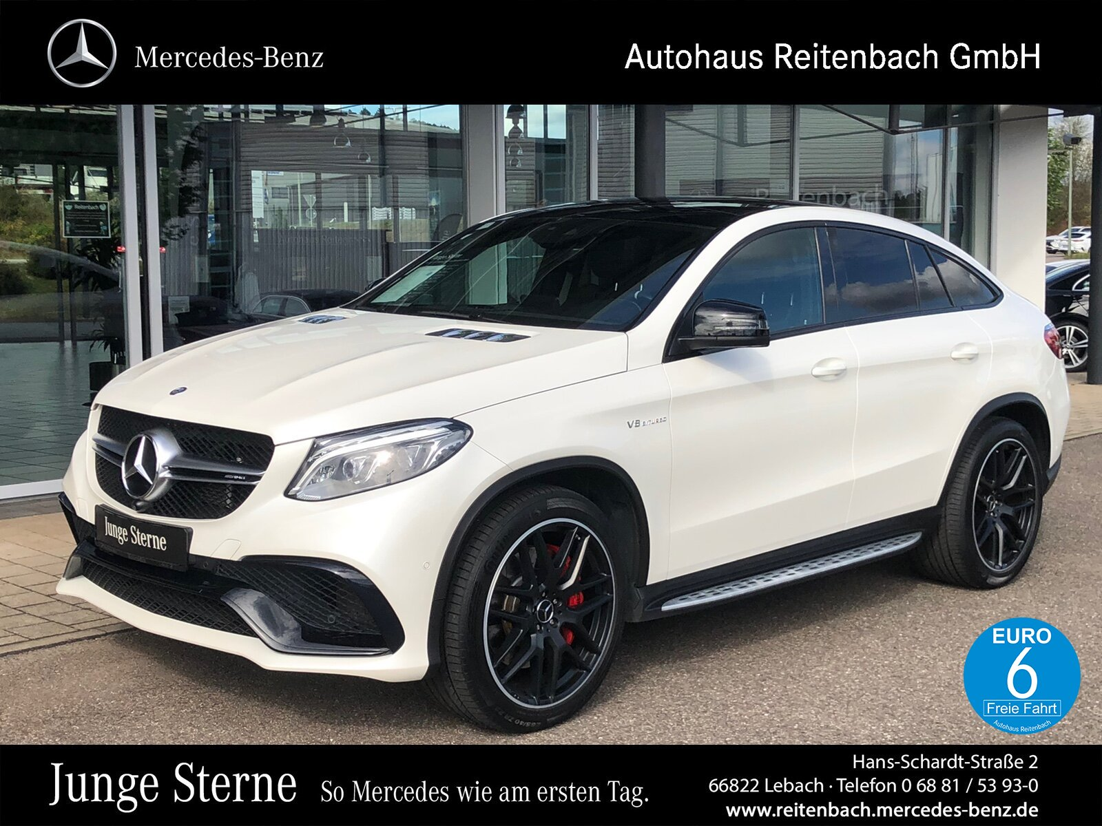 "Mercedes-Benz GLE 63S 4M COUPE COMAND+PANO+ 22""LMR+NIGHT+360°, Jahr 2015, petrol"