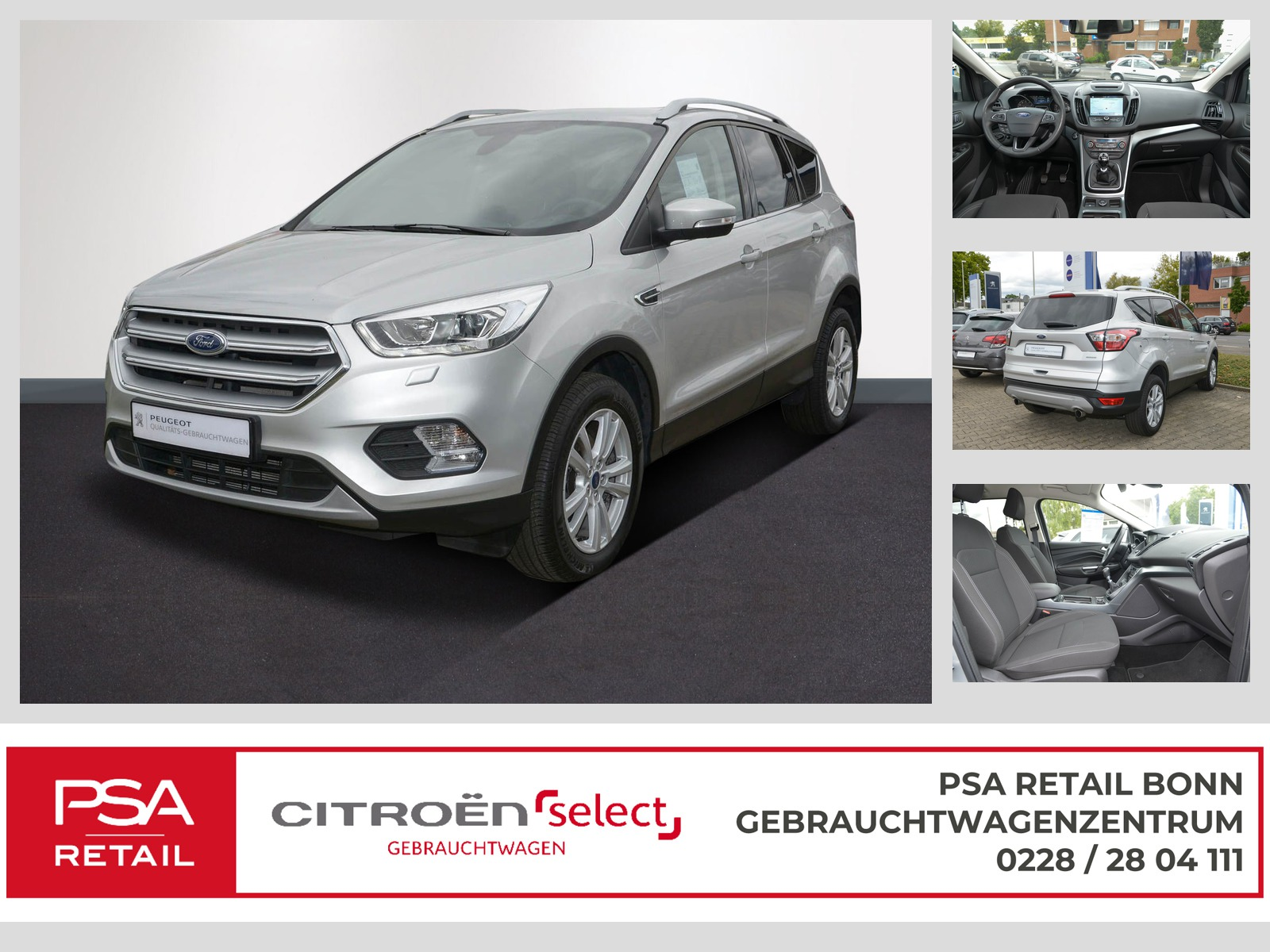 Ford Kuga 1.5 EcoBoost 2x4 Cool & Connect, Jahr 2017, Benzin