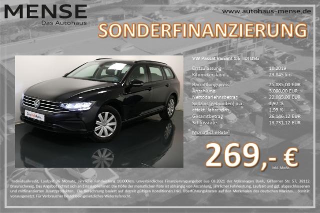 Volkswagen Passat Variant 1.6 TDI DSG Navi Winterpaket Keyl, Jahr 2019, Diesel