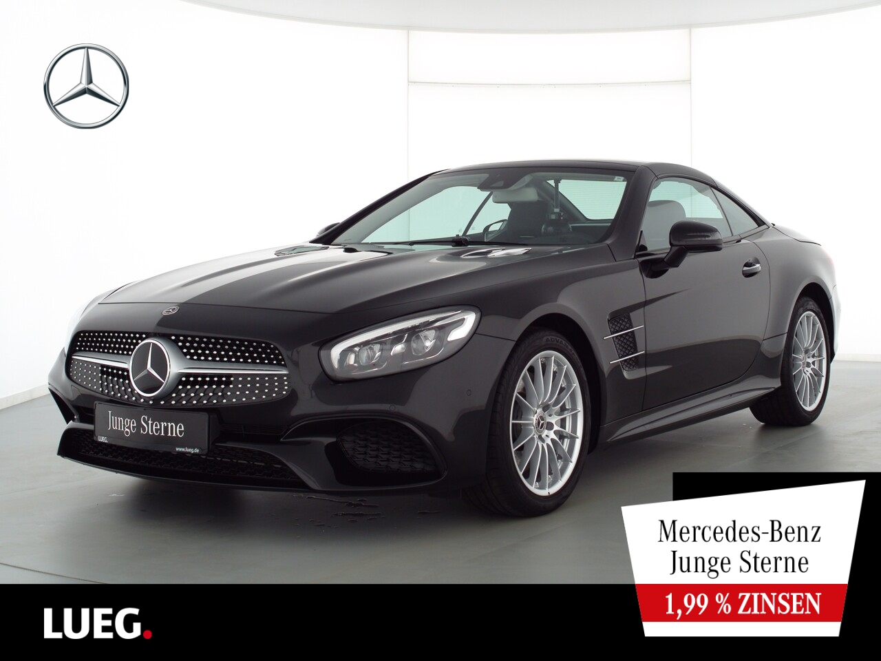 Mercedes-Benz SL 400 AMG+COM+PanoV+LED-ILS+KeylGo+AIRSCARF+RFK, Jahr 2020, Benzin