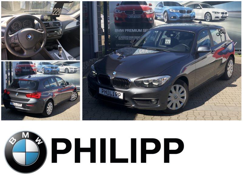BMW 118d 5-Türer Aut.HiFi Navi Bus.SportsitzeUSB Shz, Jahr 2017, Diesel