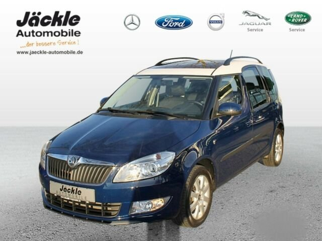 Skoda Roomster Ambition AHK, PANORAMADACH, Jahr 2013, petrol