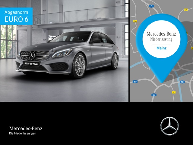 Mercedes-Benz C 43 AMG T 4M Perf-AbGas ILS Navi 19'' Totwinkel, Jahr 2017, Benzin