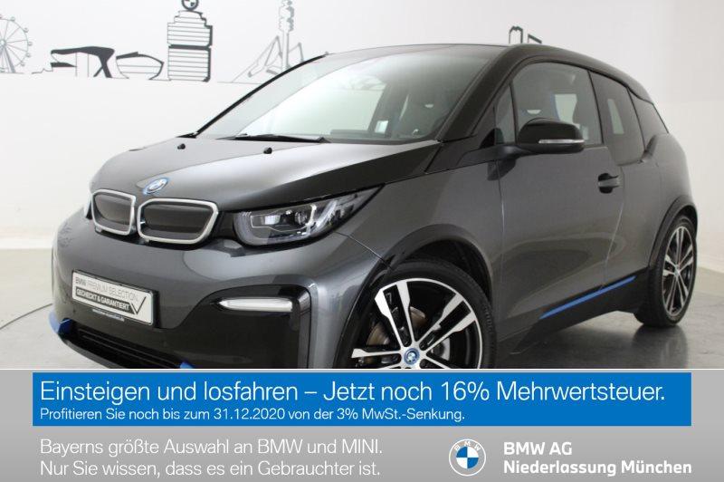 BMW i3 S 120 Ah LED RFK Navi Bus. RTTI Wärmep. Shz, Jahr 2019, Elektro