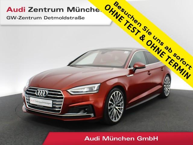 Audi A5 Sportback 2.0 TFSI Sport S line AHK HUD Pano Standhz. Virtual MatrixLED ACC Navi Leder 6-Gang, Jahr 2017, Benzin
