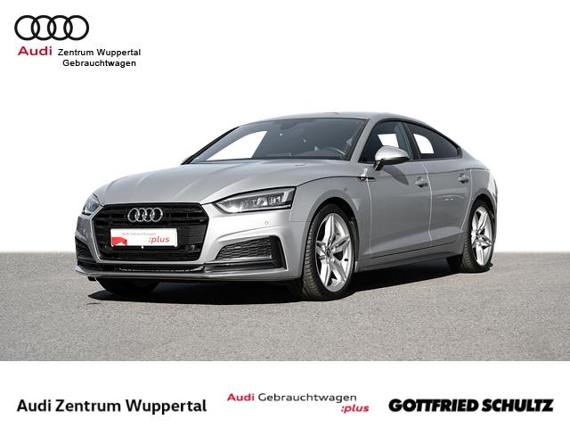 Audi A5 Sportback 2.0TFSI S-LINE AHK VIRTUAL LEDER NAV LED SHZ GRA KEYLESS MUFU FSE PDC VO HI BT 1 Sport, Jahr 2018, Benzin