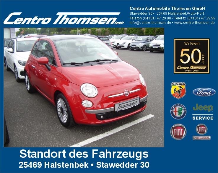 Fiat 500 0.9 8V TwinAir Lounge Radio/CD.el.Fensterh., Jahr 2013, Benzin