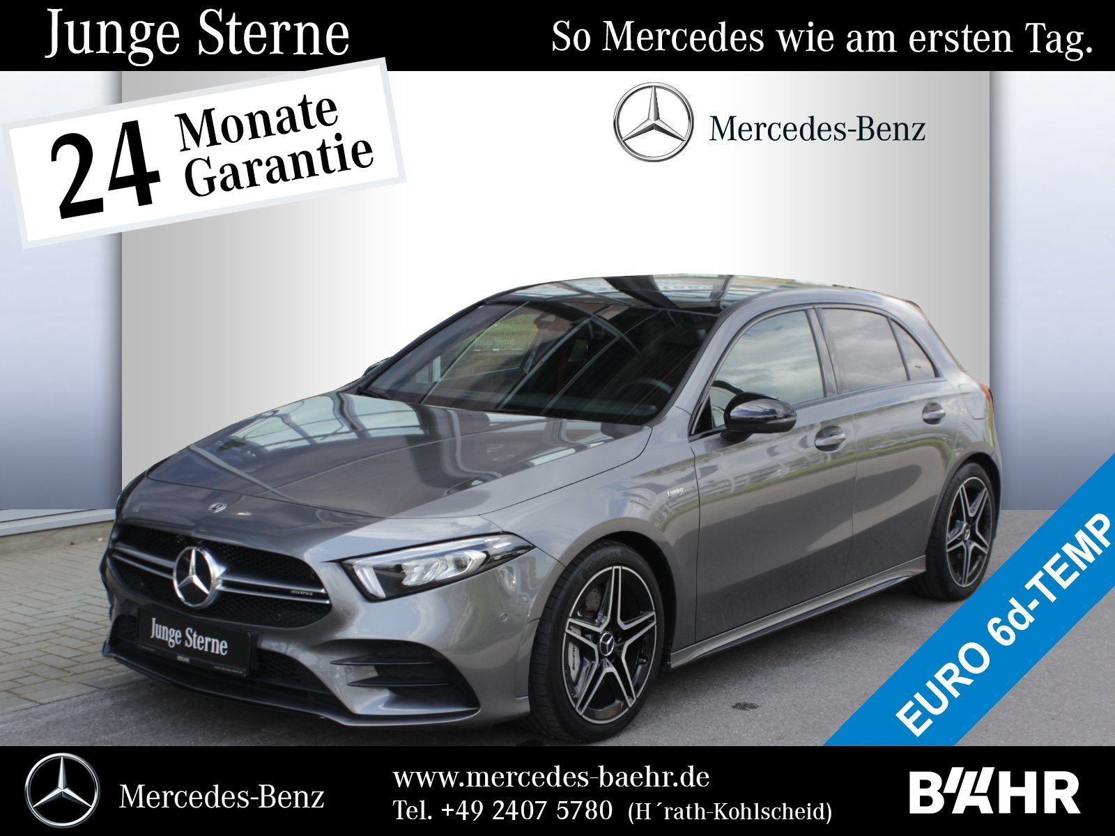 Mercedes-Benz A 35 AMG 4M Night/MBUX-Navi-Premium/LED/Pano/RFK, Jahr 2019, Benzin