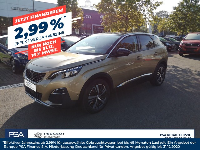 Peugeot 3008 BlueHDi 120 Stop & Start Allure/Navi/ LED/ SHZ/ Massage, Jahr 2017, Diesel