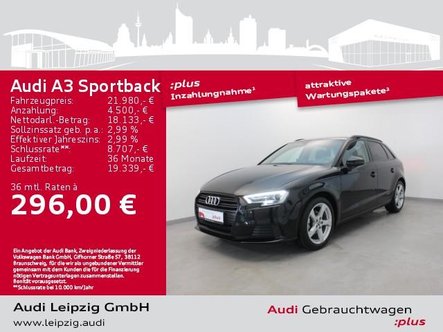 Audi A3 Sportback 1.0 TFSI sport *Xenon*S tronic*BT*, Jahr 2019, Benzin
