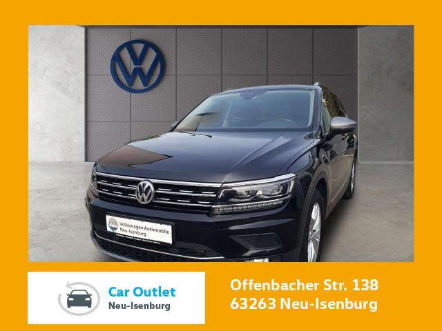 Volkswagen Tiguan Allspace 2.0 TDI DSG Highline Einparkhilfe Navi AHK Panoramadach Standheizung Leichtmetallfelgen Tiguan 2.0LWBHLBMT4M 140TDID7A, Jahr 2019, Diesel