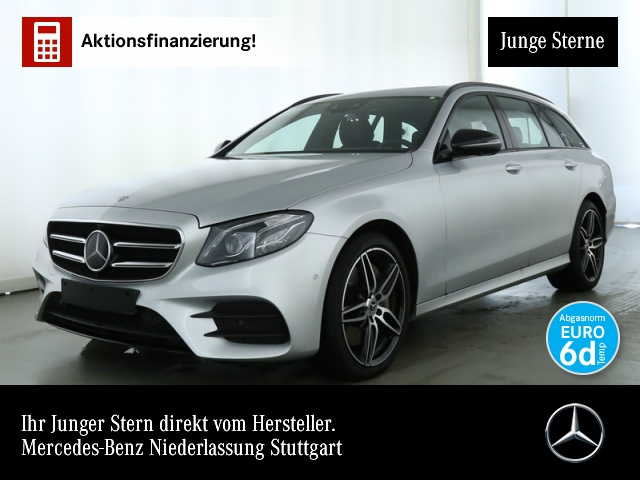 Mercedes-Benz E 450 T 4M AMG Fahrass SHD AHK Multibeam Night, Jahr 2018, petrol