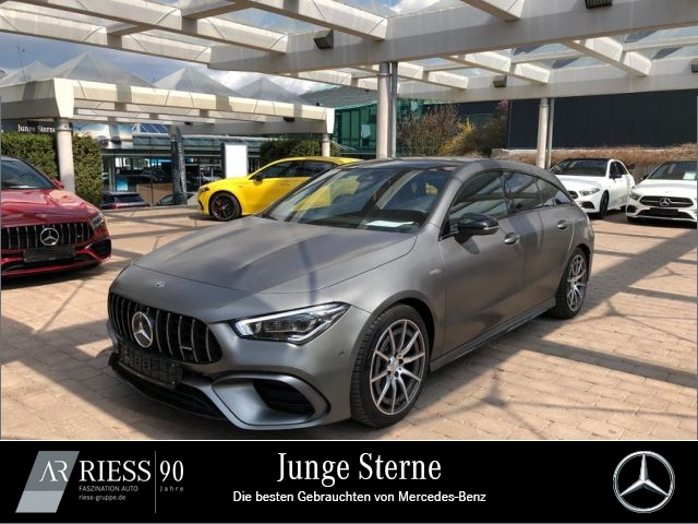 Mercedes-Benz CLA 45 4M SB Night MAGNO Navi LED Pano AHK Ambie, Jahr 2020, Benzin