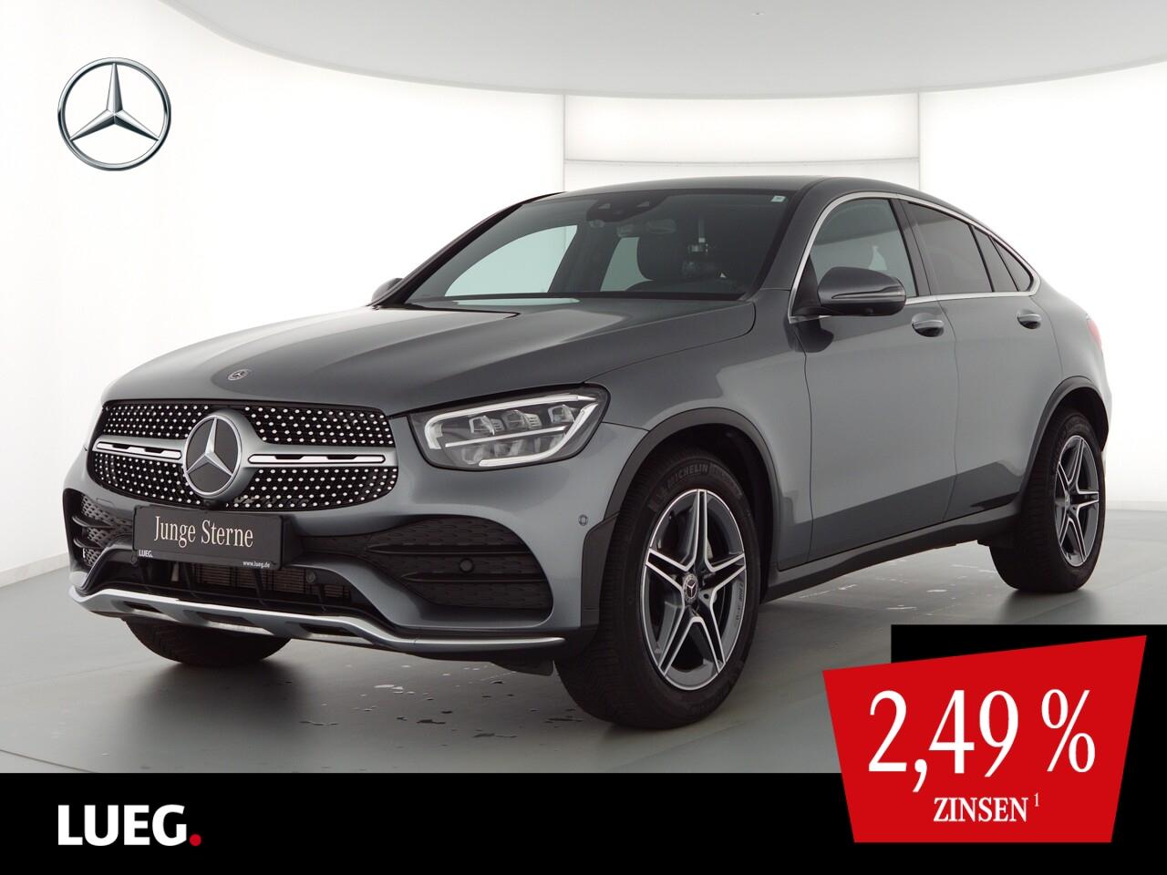 Mercedes-Benz GLC 300 4M Coupe AMG+MBUX+SHD+LED+KeyG+Distr+360, Jahr 2019, Benzin