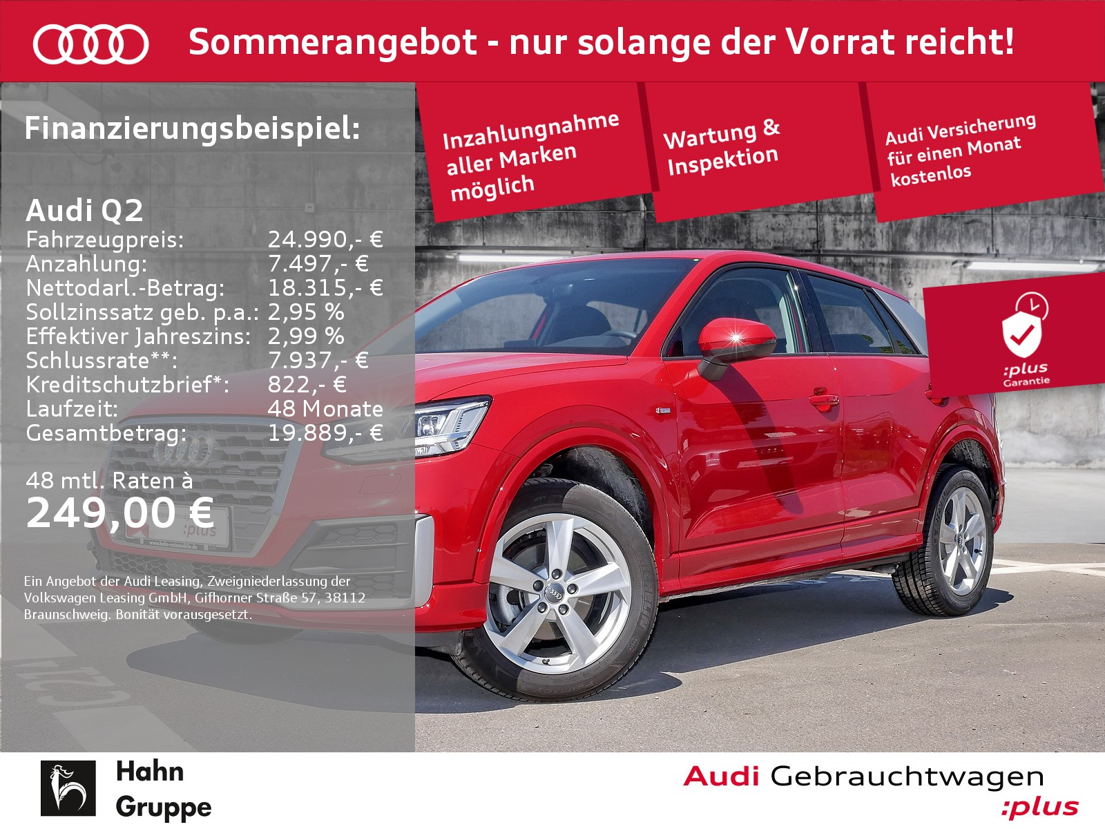 Audi Q2 30TDI EU6d Sline LED Navi AHK Einpark Sitzh, Jahr 2020, Diesel