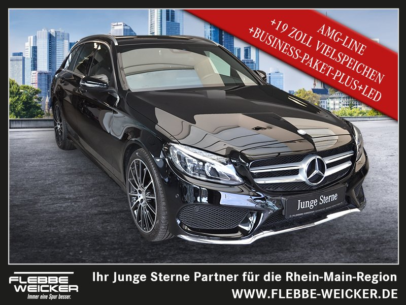 "Mercedes-Benz C 300 T AMG+COMAND+BUSINESS-PAKET-PLUS+19"" ZOLL+, Jahr 2016, petrol"