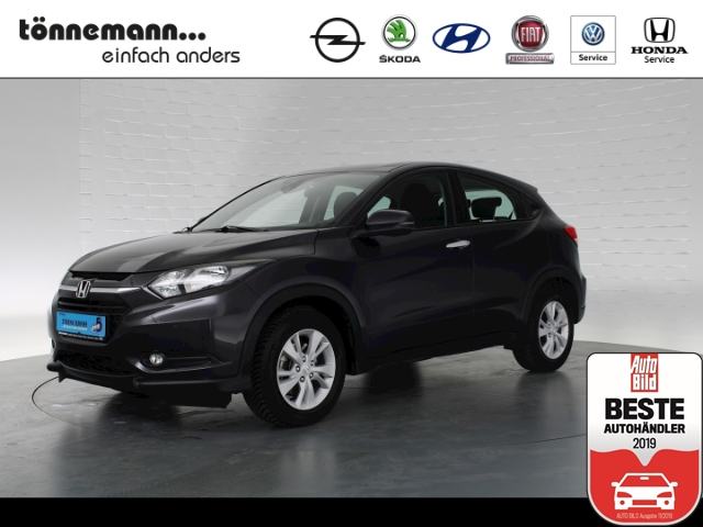 Honda HR-V Elegance i-VTEC, Navi, Parkpilot v+h, Allwetterreifen, Notbremsfunktion, Klimaautomatik, Jahr 2016, petrol