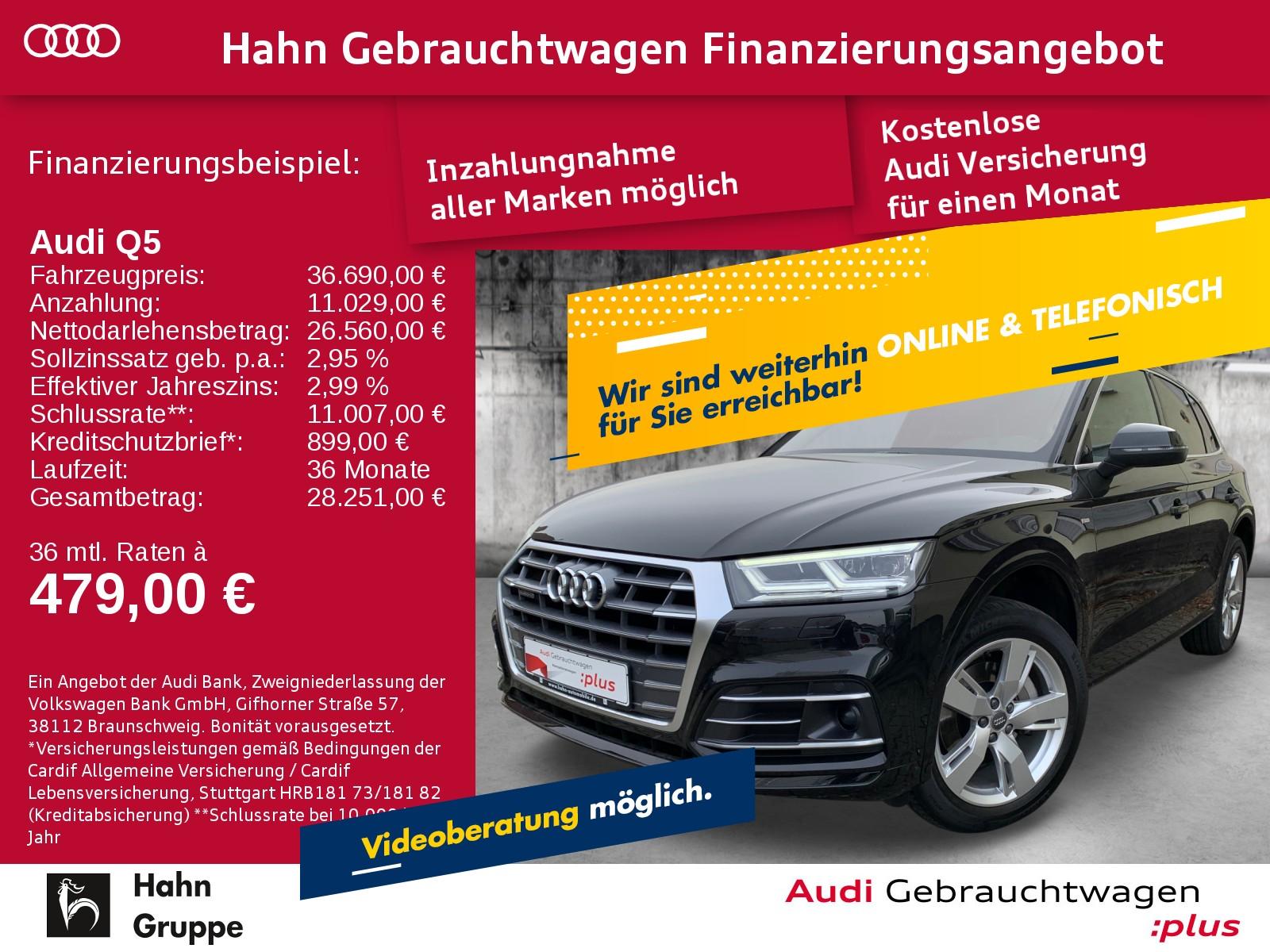 Audi Q5 2.0TDI qua S-trc S-line Navi LED CAM ACC Pano, Jahr 2017, Diesel