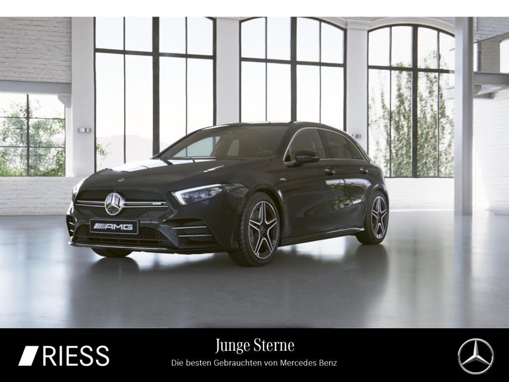 Mercedes-Benz A 35 4M AMG Navi LED Pano Burmester Kamera Ambie, Jahr 2019, Benzin