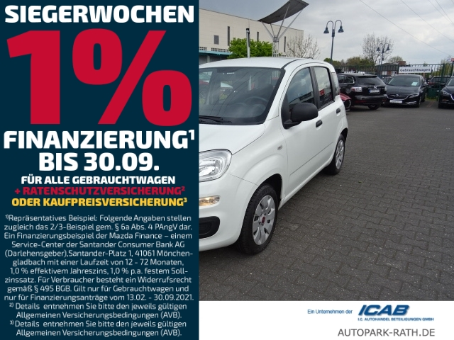 Fiat Panda Pop 1,2 8V *Klima / Radio/CD/USB*, Jahr 2013, Benzin