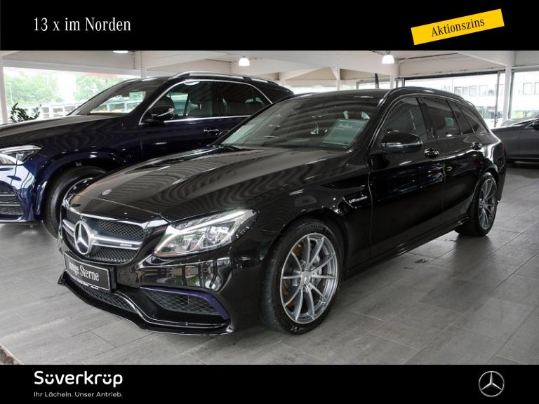 Mercedes-Benz C 63 T AMG Comand/Spur-P./360°/HUD/LED/PDC, Jahr 2016, Benzin
