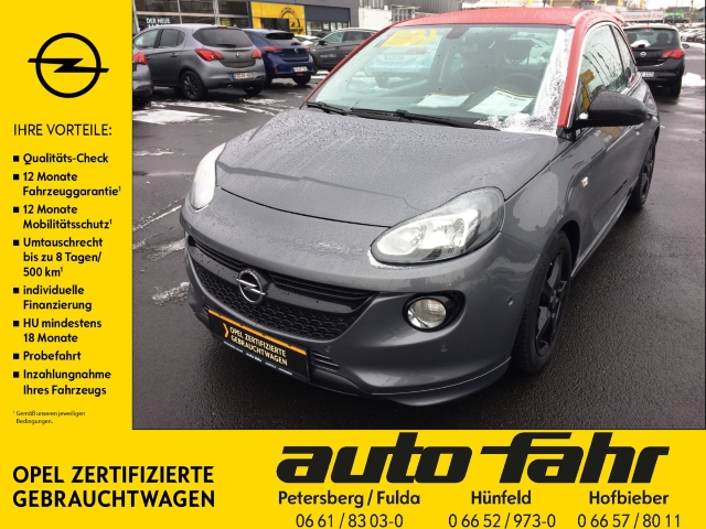 Opel Adam S 1.4 Turbo PDCv+h Klimaautom. Sitzheizung LM-Felgen, Jahr 2016, Benzin