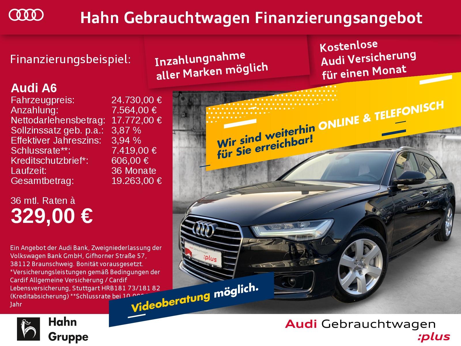 Audi A6 Avant 3.0TDI S-trc Navi LED AHK CAM ACC Sitzh, Jahr 2015, Diesel
