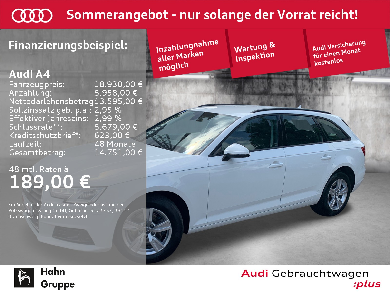 Audi A4 Avant 2.0TDI S-trc Navi Xen ACC Sitzh Einpark, Jahr 2017, Diesel