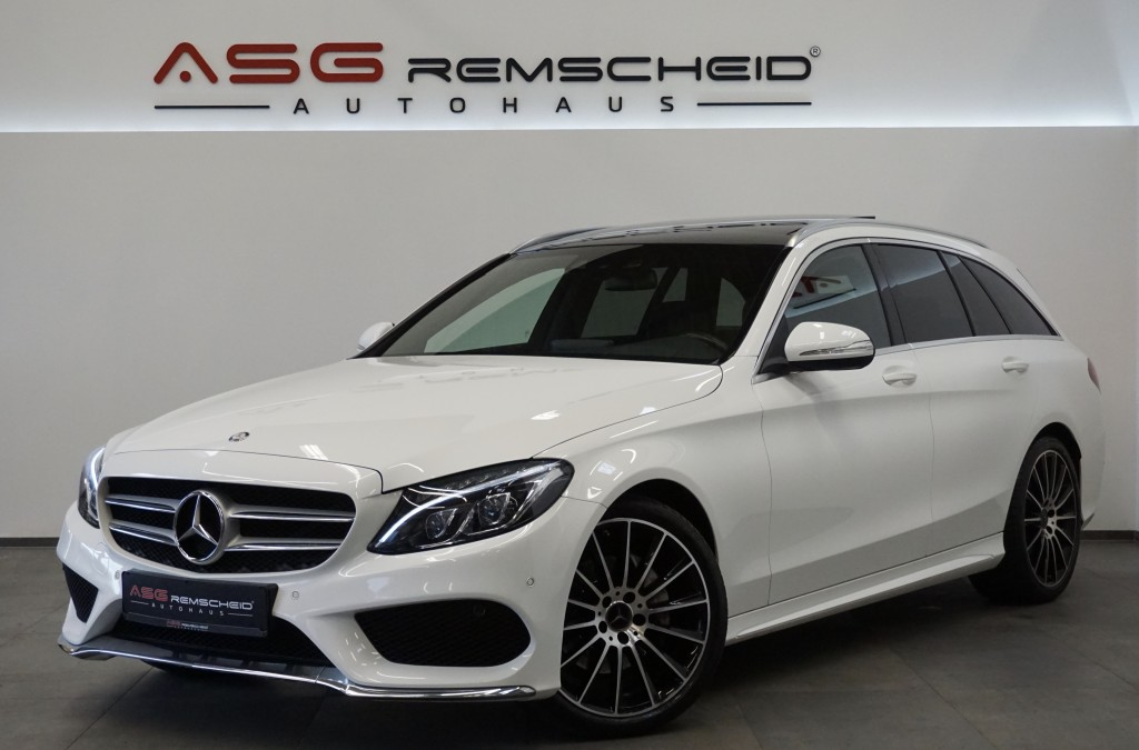 Mercedes-Benz C 220 dT 7G-Tr. AMG Line *LED ILS *Kam*2.H *H-UP, Jahr 2014, Diesel