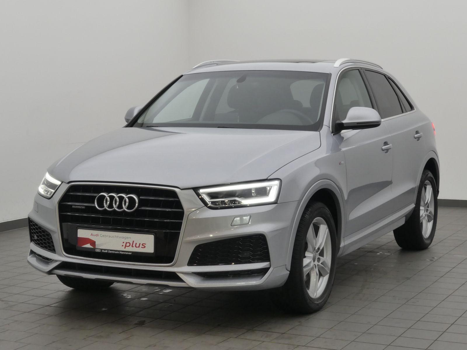 Audi Q3 2.0 TDI qu. Sline Pano LED AHK Navi Leder, Jahr 2018, Diesel
