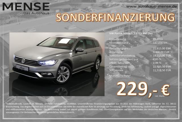 Volkswagen Passat Alltrack 2.0 TDI 4M DSG Navi AHK HUD ACC, Jahr 2016, Diesel