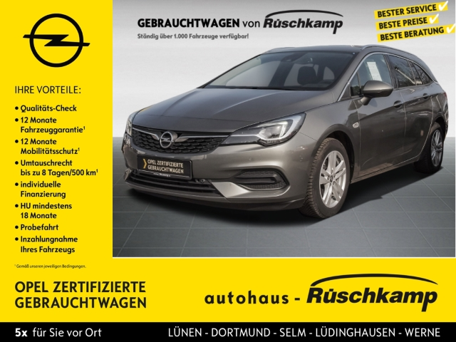 Opel Astra K Sports Tourer Elegance Start Stop 1.2 Turbo EU6d, Jahr 2020, Benzin