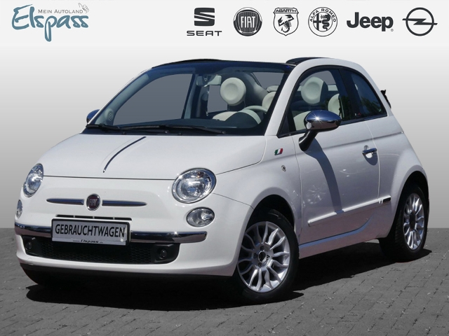 Fiat 500C 500 Cabrio Pop Star 1.2 8V LEDER KLIMA PDC CD MP3 ESP, Jahr 2014, Benzin