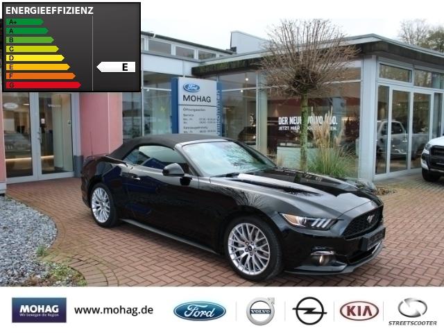 Ford Mustang Convertible 2.3 EcoBoost Automatik Leder Xenon Navi Keyless Klimasitze Rückfahrkam., Jahr 2017, petrol