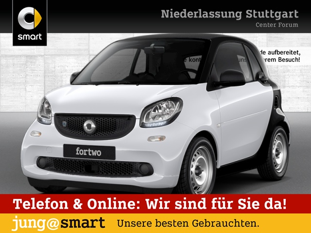 smart fortwo coupé 60kWed cool&Audio PDC Tempom Klima, Jahr 2017, Elektro