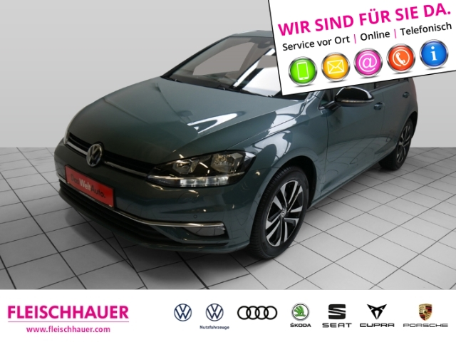 Volkswagen Golf VII IQ.DRIVE 1.5 TSI Navi+connect+PDC+SHZ+ACC+BSD, Jahr 2019, Benzin