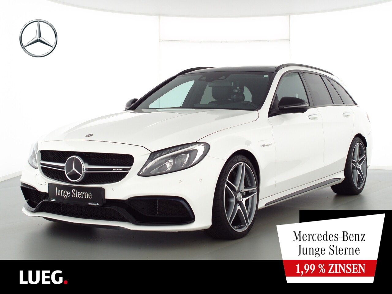 Mercedes-Benz C 63 AMG T COM+Pano+Burm+LED+19''+AbGas+KeyGo+RF, Jahr 2018, Benzin