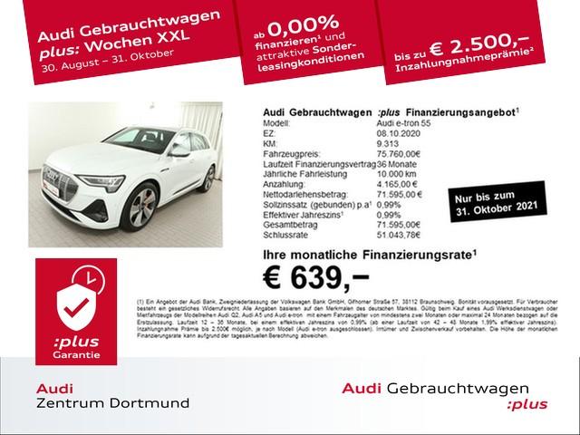 Audi e-tron 55 qu. 2xS line/Matrix/HuD/Pano/B+O, Jahr 2020, Elektro