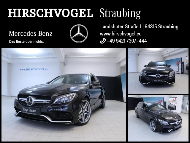 Mercedes-Benz C 63 AMG Pano+DISTRONIC+Com+ILS+Burmester+Kamera, Jahr 2016, petrol