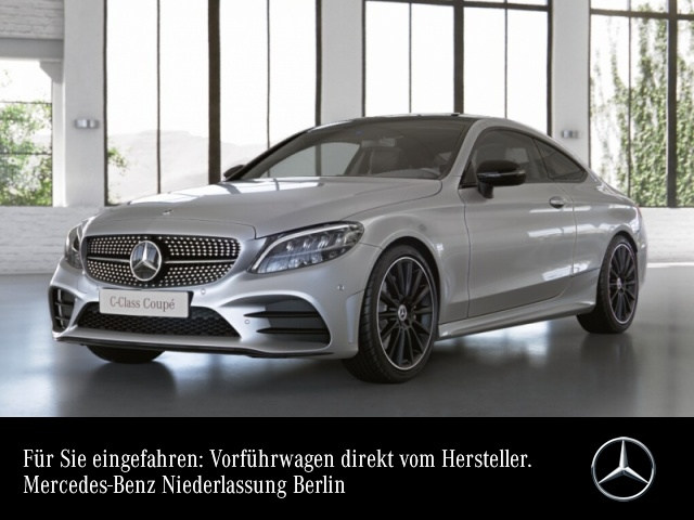 "Mercedes-Benz C 200 Coupé AMG+Night+Pano+LED+Kamera+19""+Spur+9G, Jahr 2021, petrol"