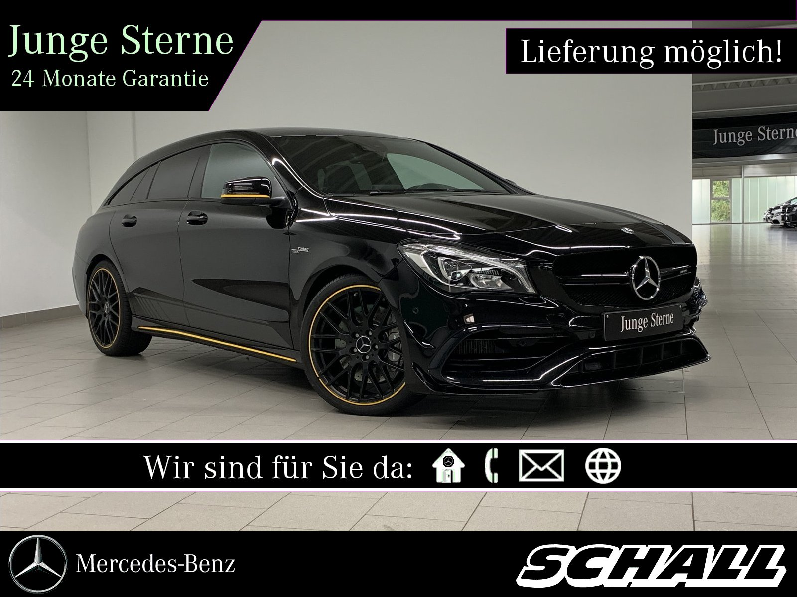 Mercedes-Benz CLA 45 AMG 4M SB PERF.SITZE+PERF.ABGAS+AERODYNAM, Jahr 2017, Benzin