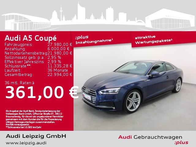 Audi A5 Coupe 3.0 TDI quattro sport *Sportfahrwerk*, Jahr 2017, Diesel