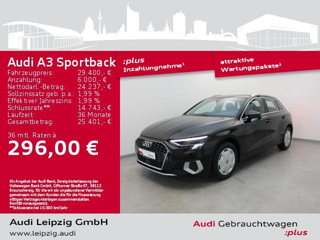 Audi A3 Sportback 30 TFSI advanced *LED*AHK*, Jahr 2020, Benzin