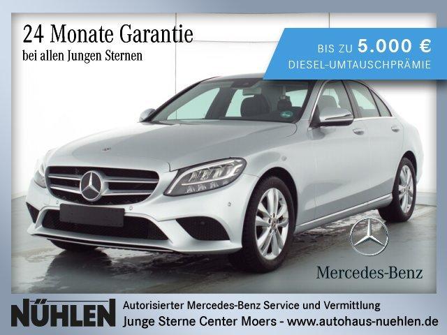 Mercedes-Benz C 180 AVANTGARDE+LED+Rückfahrkamera+Sitzheizung, Jahr 2019, Benzin