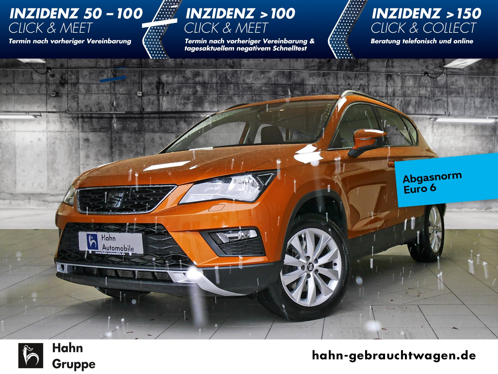 Seat Ateca 1.0 TSI Style FSE GRA BlindSpot, Jahr 2017, Benzin