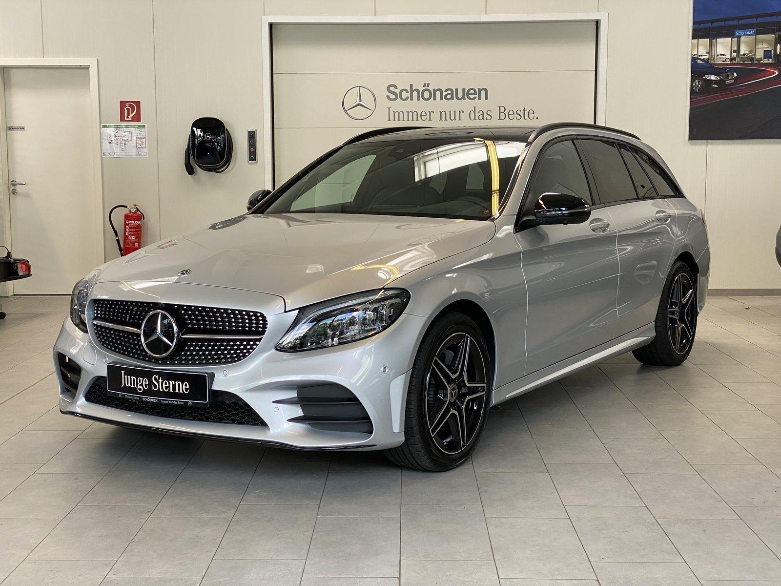 Mercedes-Benz C 220d 4M T AMG+DISTR+HUD+NIGHT+AHK+PANO+BURMES., Jahr 2020, Diesel
